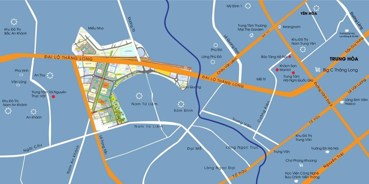 Dự án Vinhomes Smart City Tây Mỗ Đại Mỗ liên kết vùng