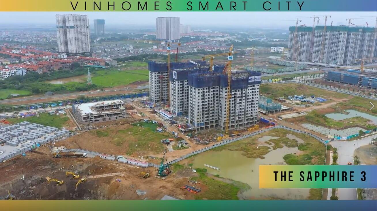 Ảnh thực tế Sapphire 3 Vinhomes Smart City tháng 11 năm 2019