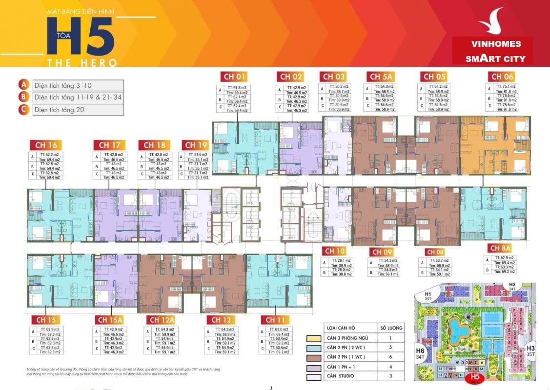 Dự án Vinhomes Smart City Tây Mỗ Đại Mỗ tòa H05