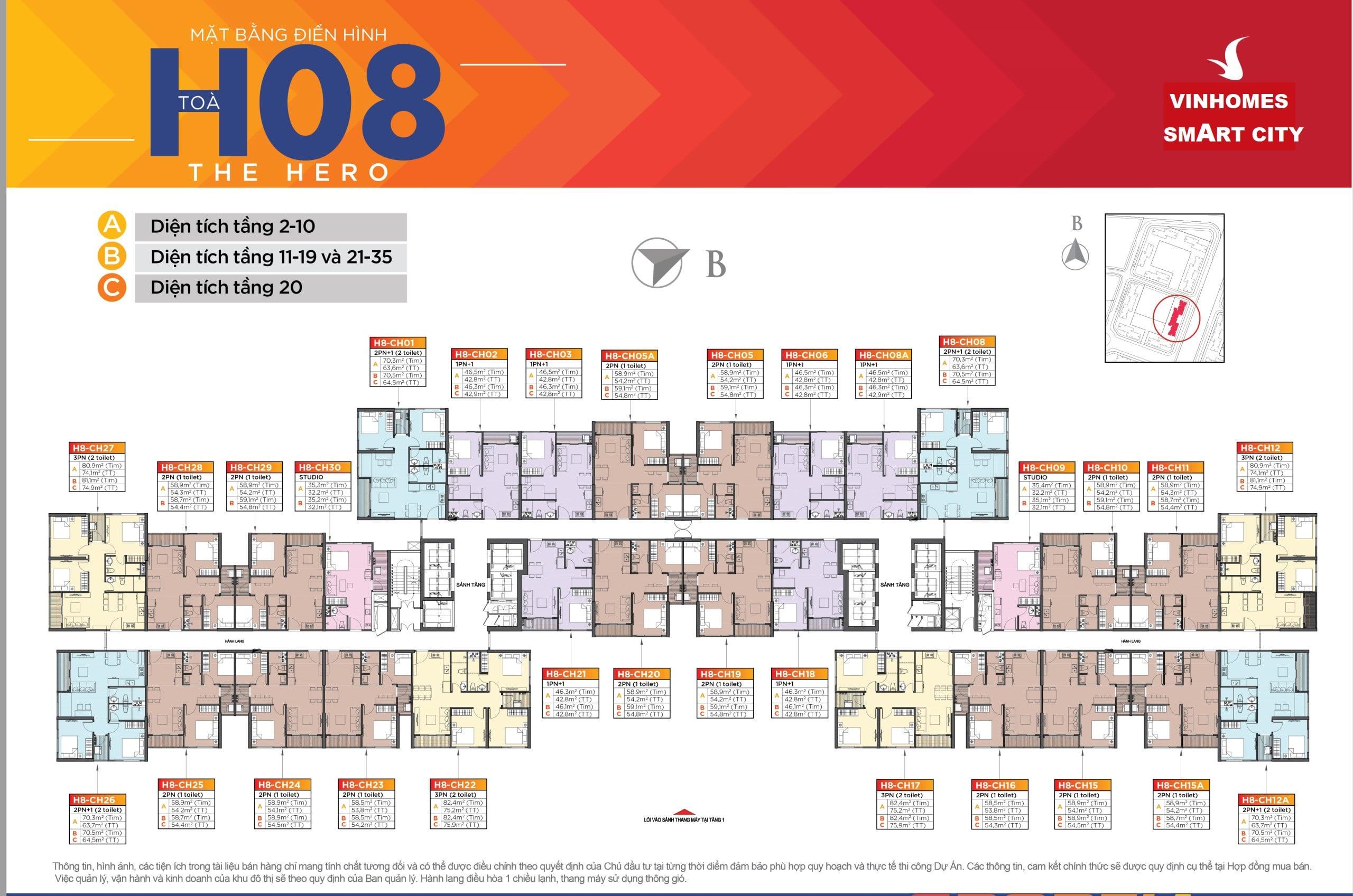 Dự án Vinhomes Smart City Tây Mỗ Đại Mỗ tòa H08