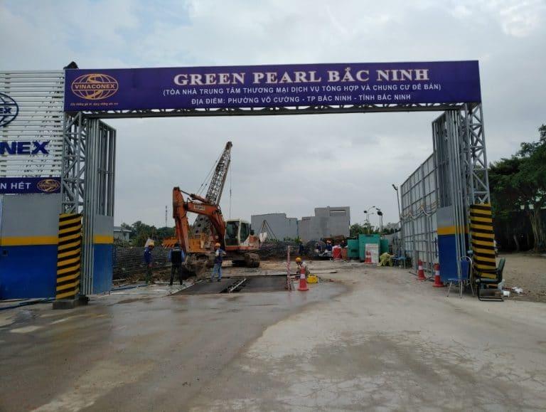 Cổng công trường Dự án Green Pearl Bắc Ninh