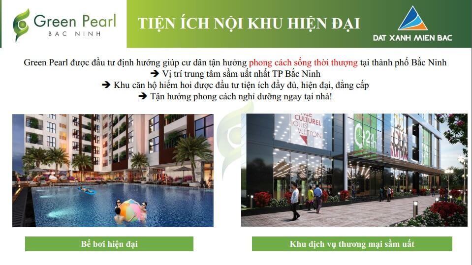 Chung cư Green Pearl Bắc Ninh tiện ích cao cấp