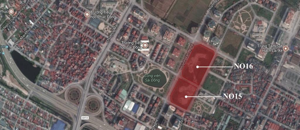 vị trí dự án Chung Cư BRG No15 No16 Sài Đồng