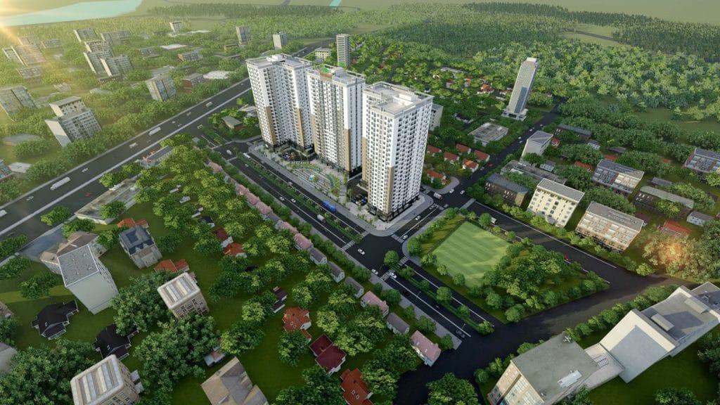 Dự án Xuân Mai Thanh Hóa phối cảnh flycam