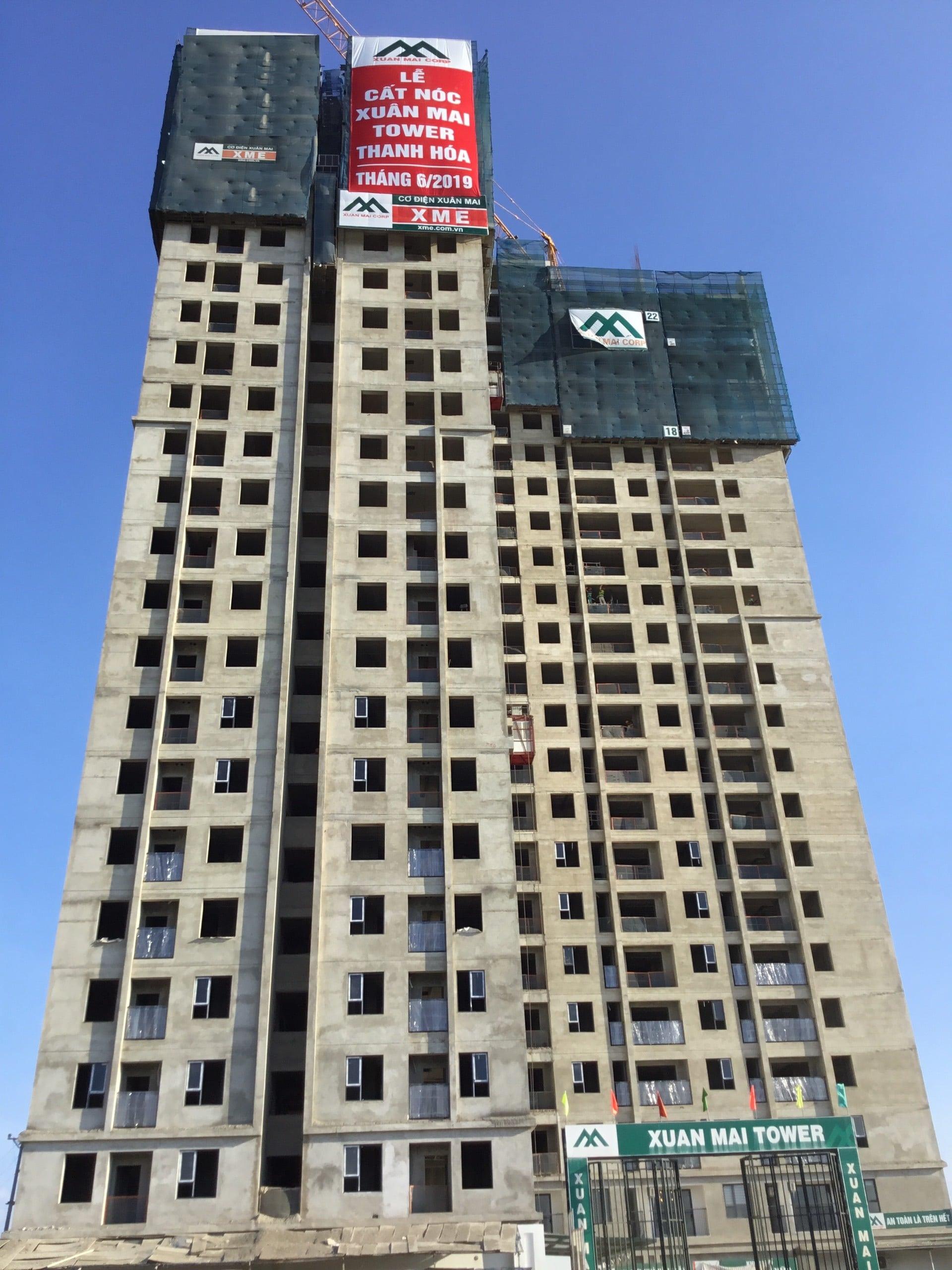 Dự án Xuân Mai Tower Thanh Hóa tiến độ thi công 2
