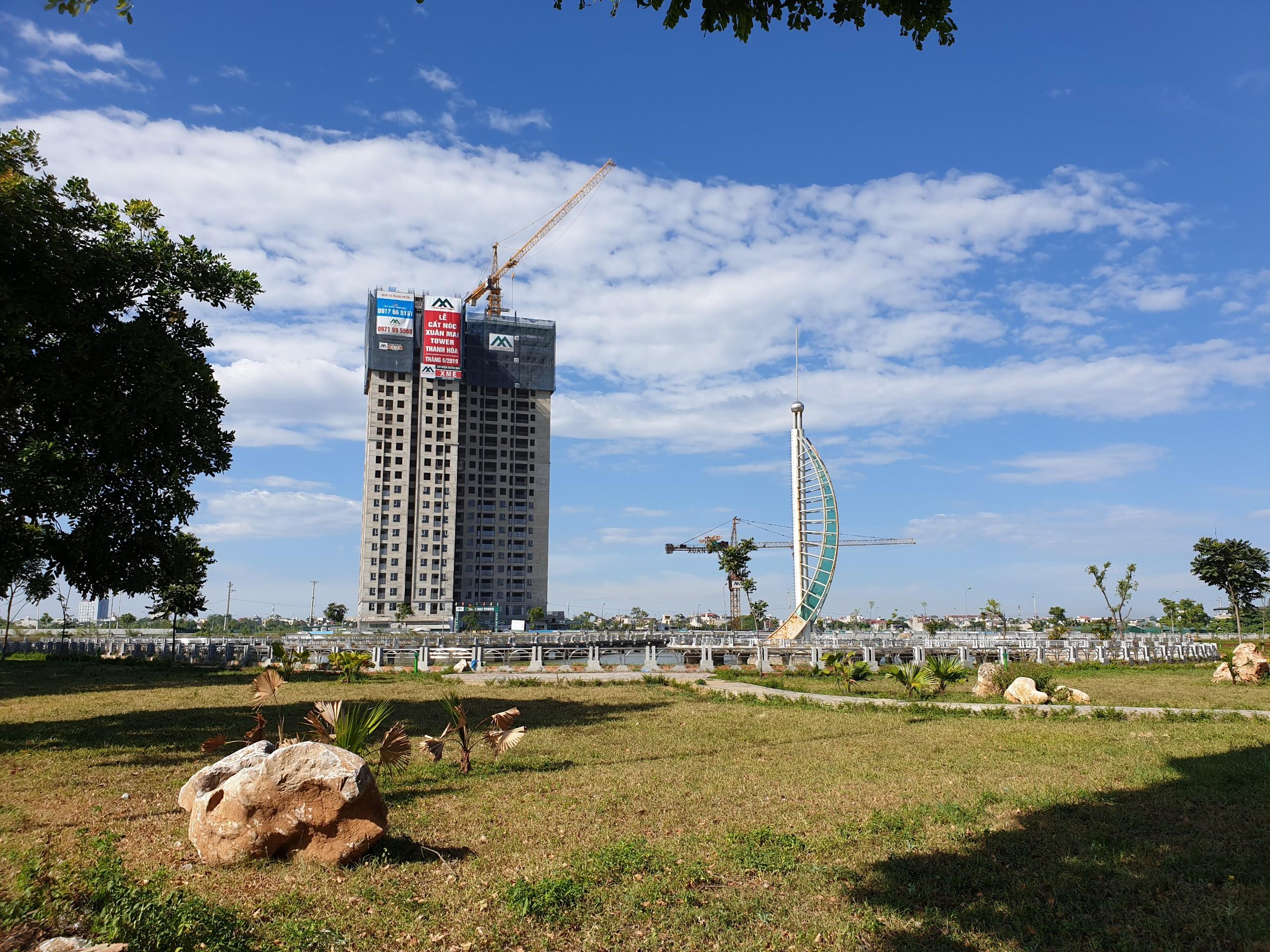 Dự án Xuân Mai Tower Thanh Hóa tiến độ thi công 1