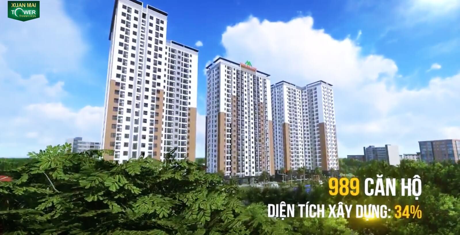 Dự án Xuân Mai Tower Thanh Hóa 989 căn hộ