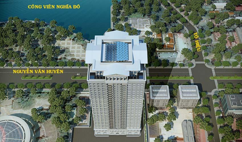 tầm view khu vực dự án Tân Hoàng Minh Nguyễn Văn Huyên D'.Palais de Louis