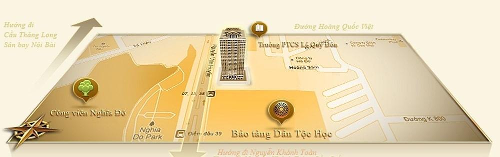 Vị trí dự án Tân Hoàng Minh Nguyễn Văn Huyên D'.Palais de Louis
