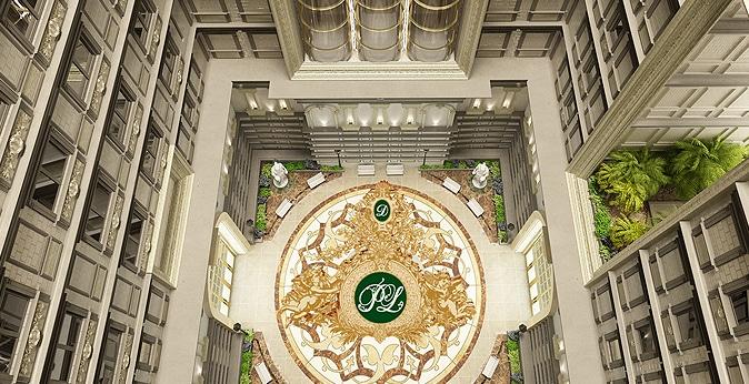 giếng trời trung tâm Tân Hoàng Minh Nguyễn Văn Huyên D'.Palais de Louis