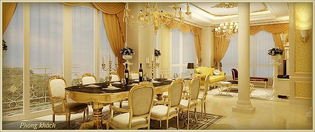 Tân Hoàng Minh Nguyễn Văn Huyên D'.Palais de Louis căn hermes 10 khách và ăn 2