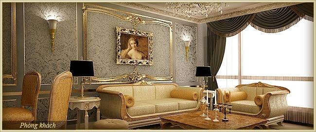 Tân Hoàng Minh Nguyễn Văn Huyên D'.Palais de Louis căn athena phòng khách