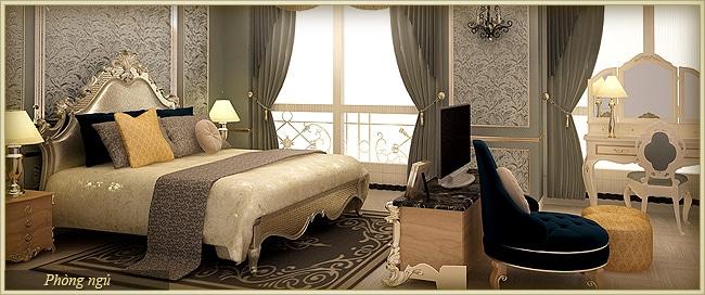Tân Hoàng Minh Nguyễn Văn Huyên D'.Palais de Louis căn athena phòng ngủ