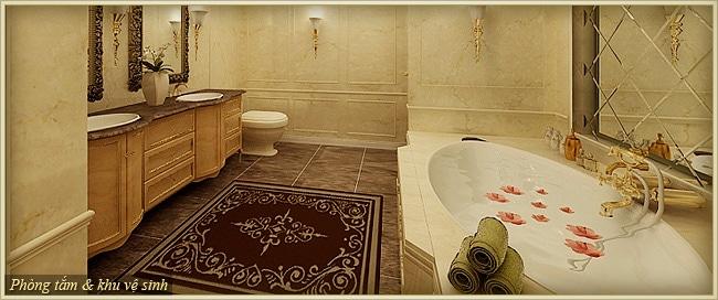 Tân Hoàng Minh Nguyễn Văn Huyên D'.Palais de Louis căn athena phòng tắm