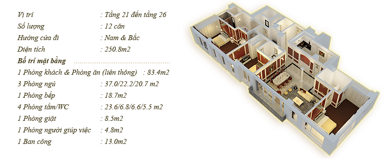 Tân Hoàng Minh Nguyễn Văn Huyên D'.Palais de Louis căn Dragan