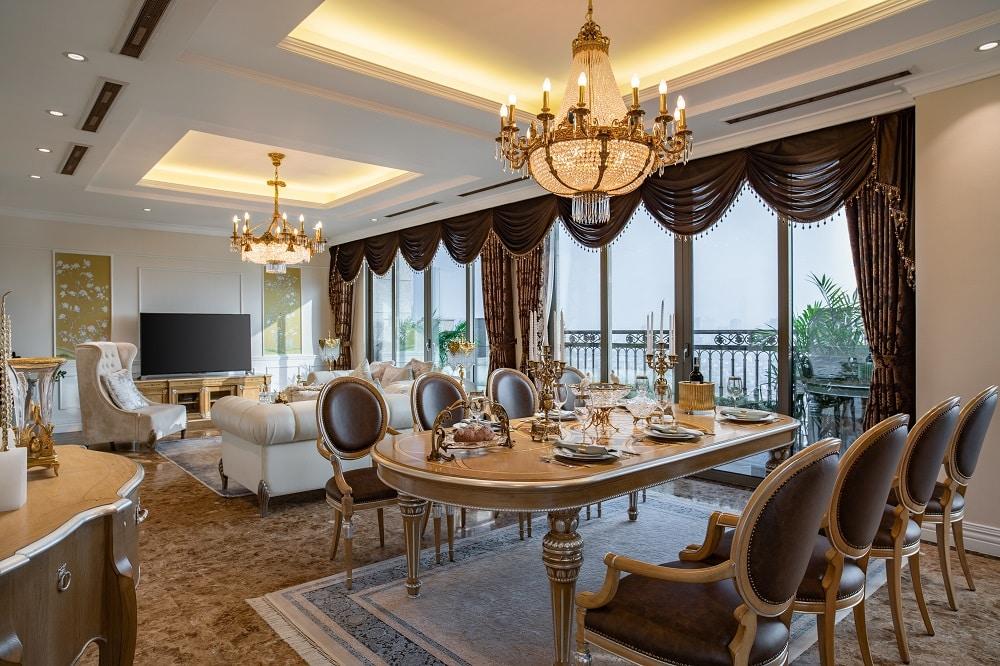 Ảnh thực tế căn hộ mẫu tầng 21-22-23 Dự án Tân Hoàng Minh Nguyễn Văn Huyên D'Palais de Louis 2021