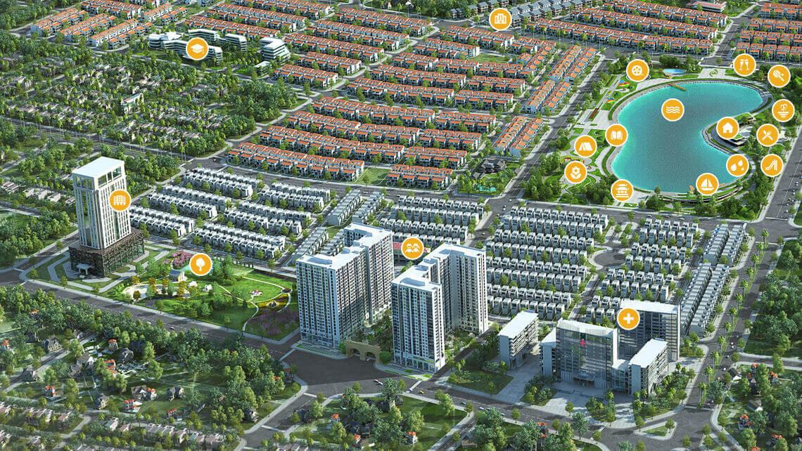 Dự án Chung cư Anland Lake View Dương Nội tiện ích cảnh quan