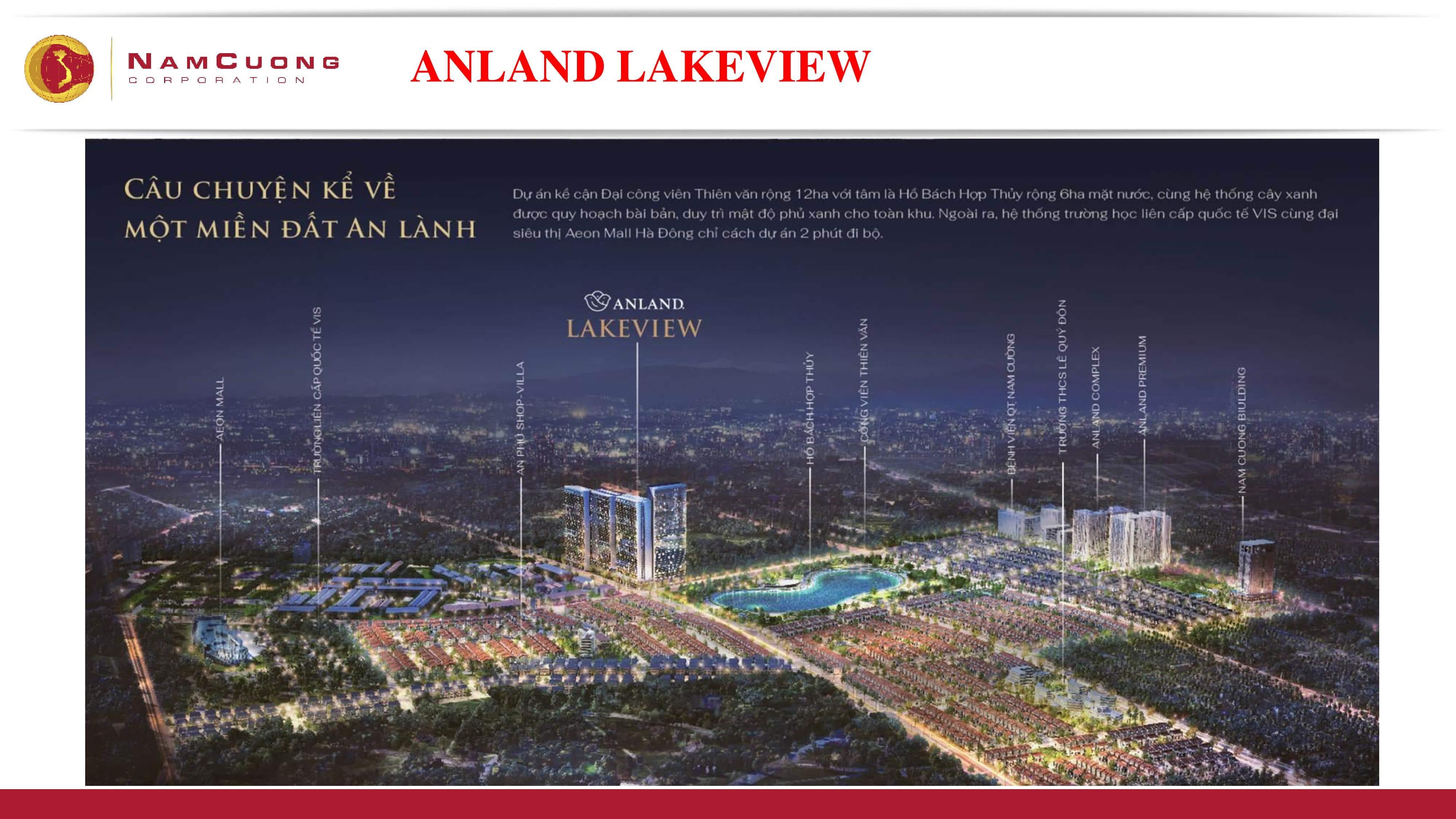 Dự án Chung cư Anland Lake View Dương Nội phối cảnh tổng thể