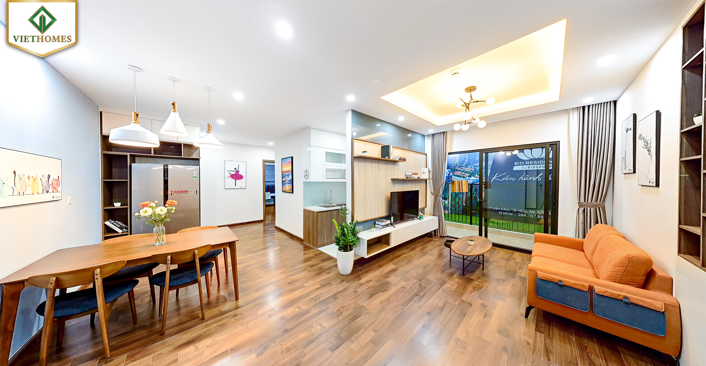 Phòng khách Nhà mẫu BID Residence Căn B05 thiết kế 03 phòng ngủ diện tích 107,9m2 thông thủy
