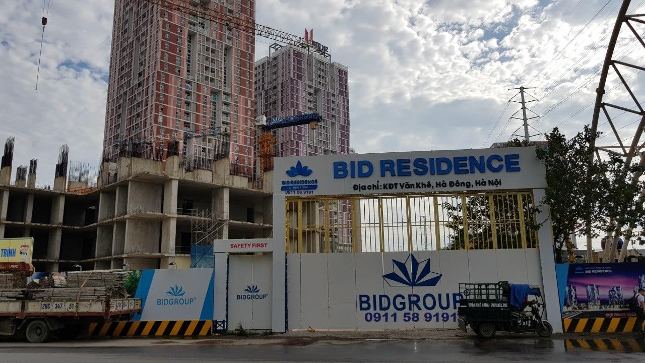 Dự án Chung cư BID Residence Văn Khê Hà Đông công trường thi công