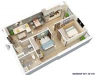 Thiết kế căn hộ chung cư BID Residence Văn Khê