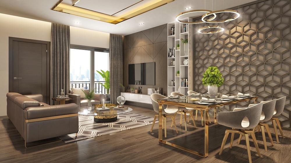 Nội thất phòng khách Dự án Chung cư Bid residence Văn Khê Hà Đông