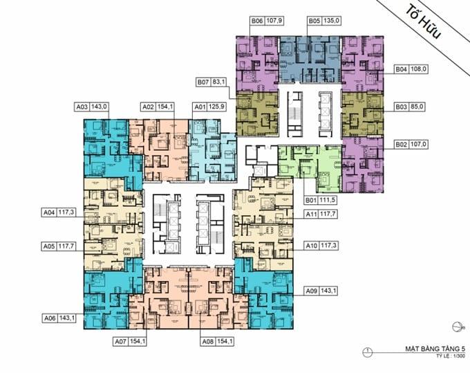 Mặt bằng BID Residence Tầng 05