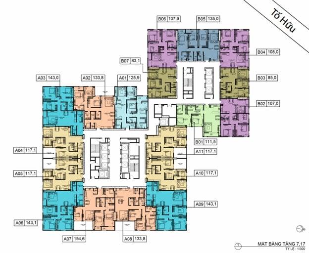 Mặt bằng BID Residence Tầng 07, 17