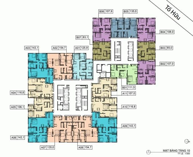 Mặt bằng BID Residence Tầng 10