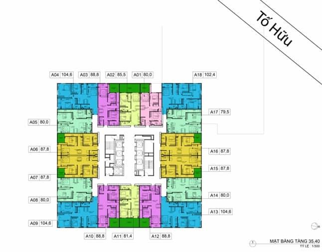 Mặt bằng BID Residence Tầng 35, 40