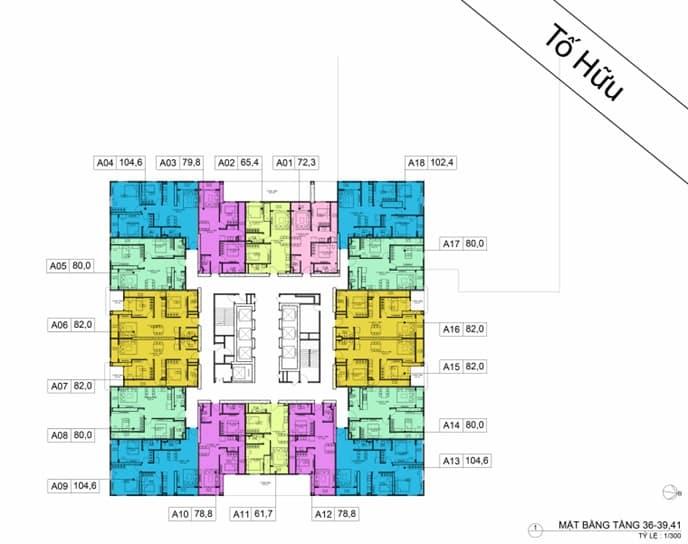 Mặt bằng BID Residence Tầng 36-39, 41