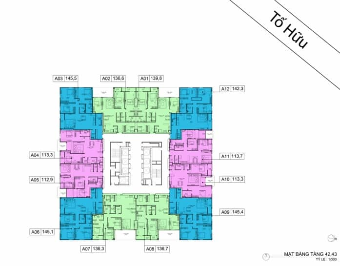 Mặt bằng BID Residence Tầng 42, 43
