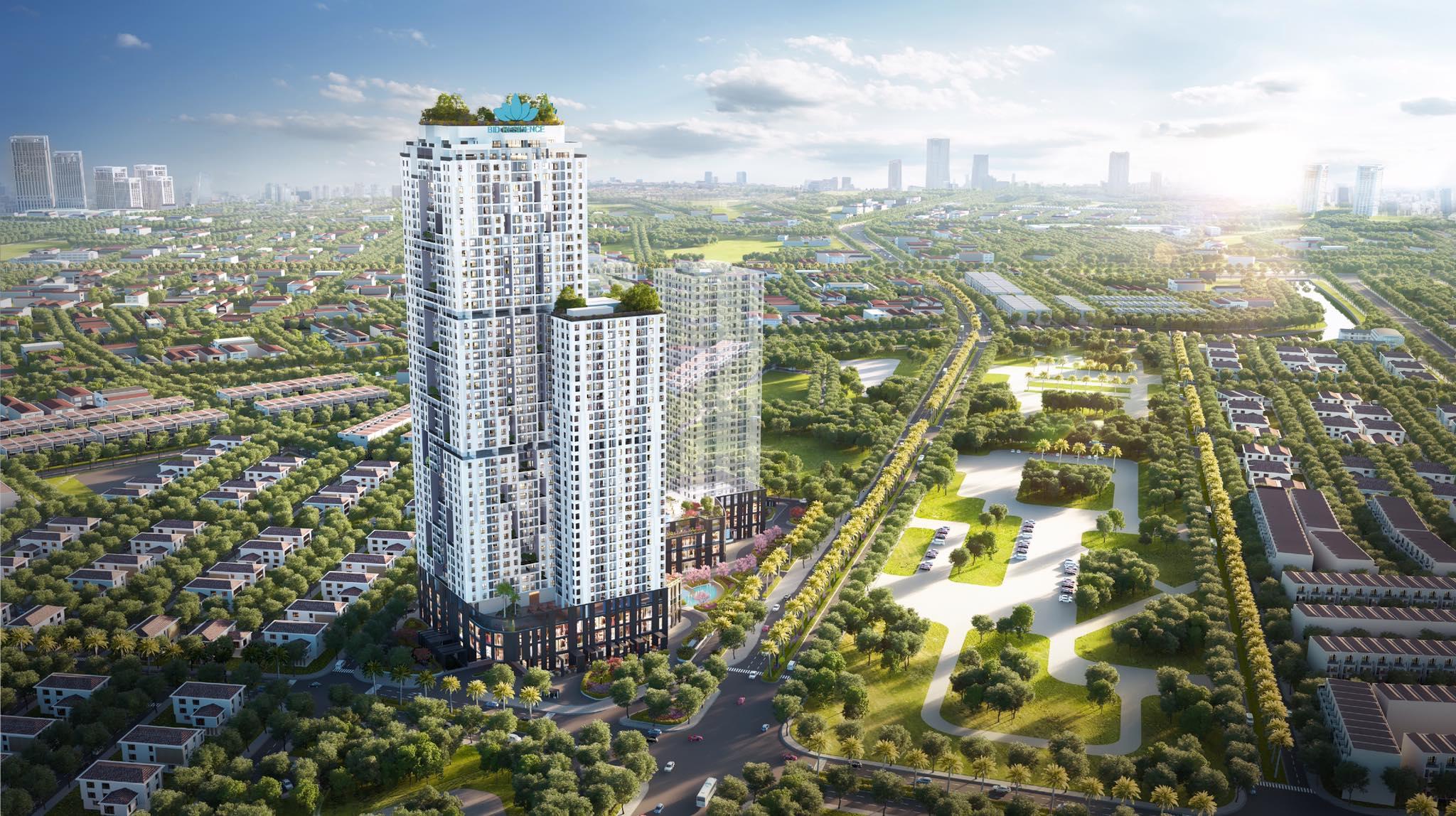 Phối cảnh Chung cư BID Residence trong KĐT Văn Khê Hà Đông