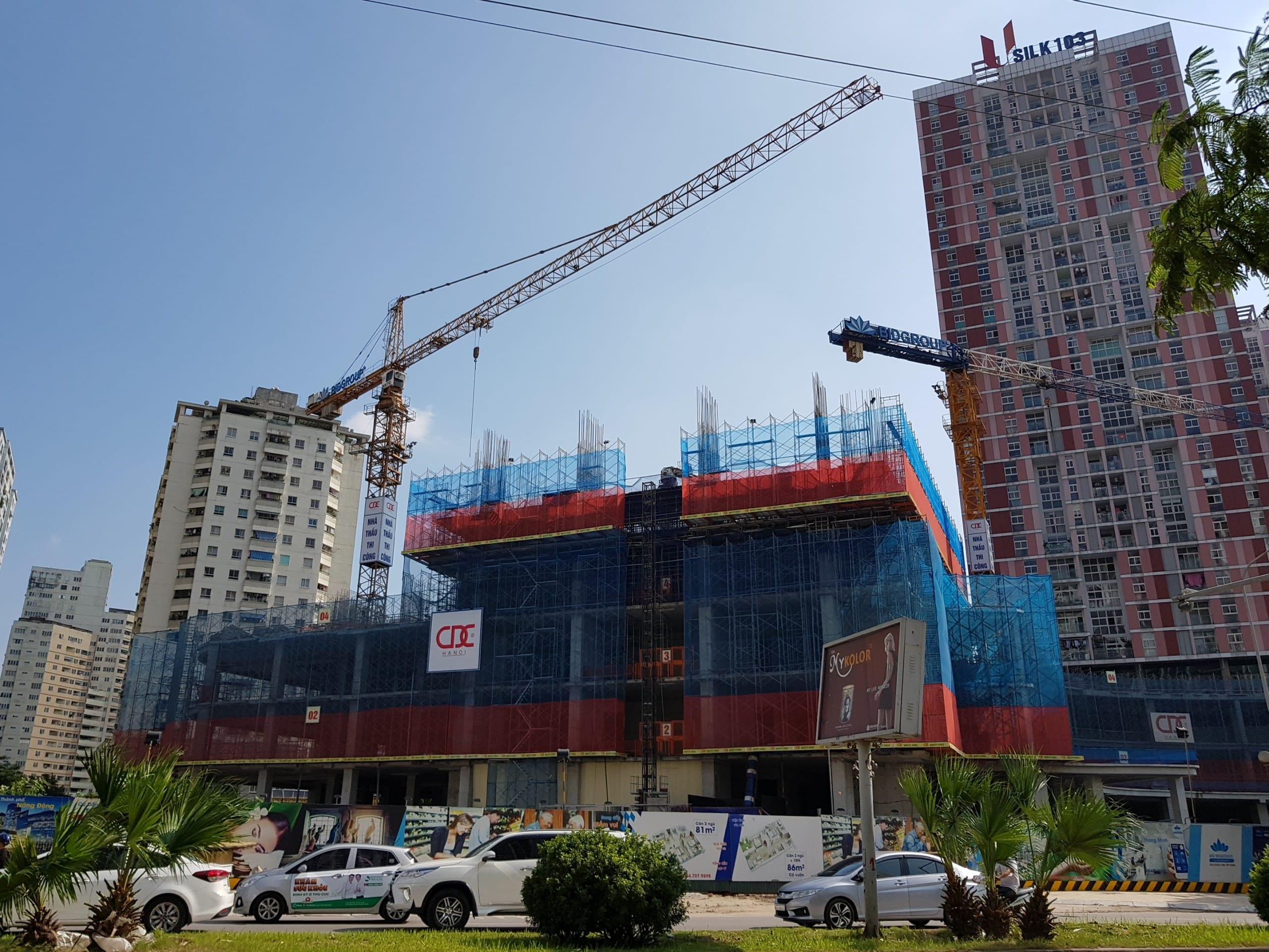 Công trường Dự án Chung cư BID Residence Văn Khê Hà Đông