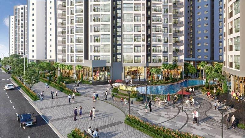 Le Grand Jardin ngay mặt tiền Đại lộ Hoàng Kim trung tâm Quận Long Biên