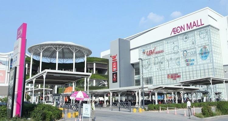 Đại siêu thị AEON Mall Long Biên cách Chung cư Le Grand Jardin 1,5km