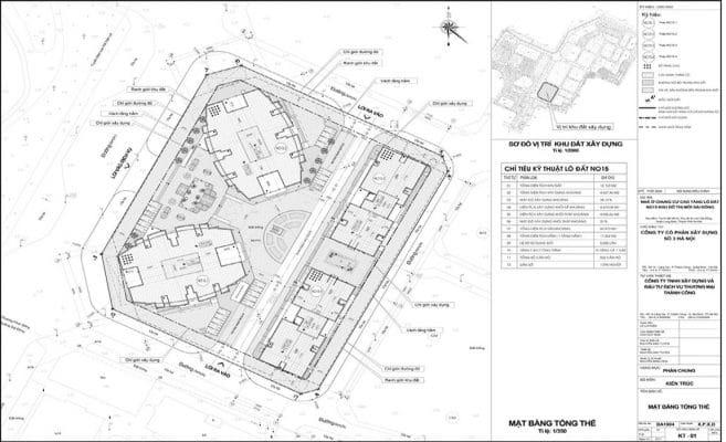 Master Plan cụm 4 tòa No 15 Le Grand Jardin Sài Đồng