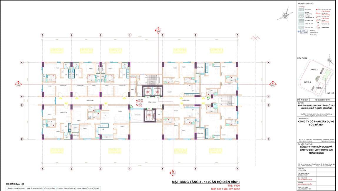 Mặt bằng điển hình tòa No15-3 Le Grand Jardin Sài Đồng