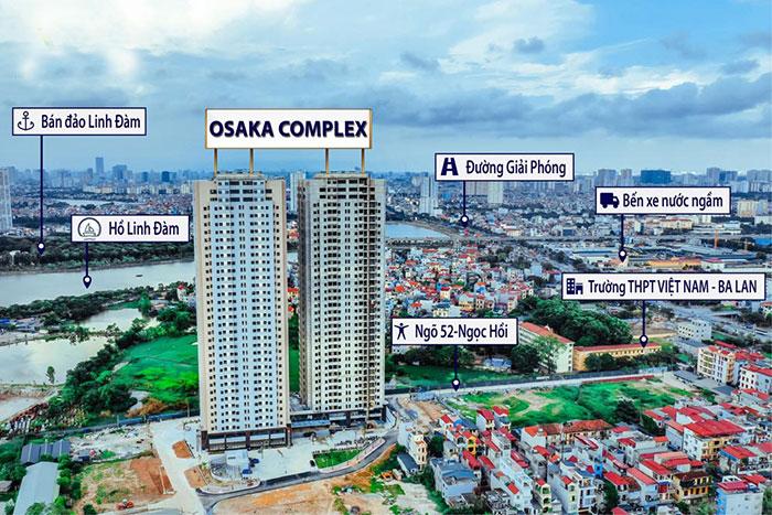 Chung cư Osaka Complex 48 Ngọc Hồi mở bán Tòa Osaka Skyline Complex tổng quan dự án