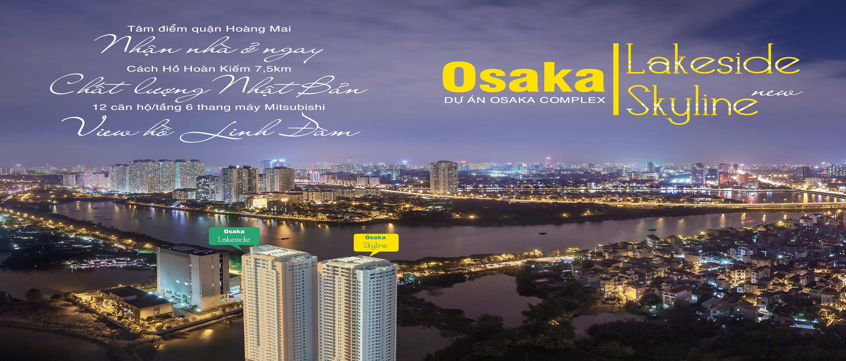 Chung cư Osaka Complex 48 Ngọc Hồi mở bán Tòa Osaka Skyline Complex