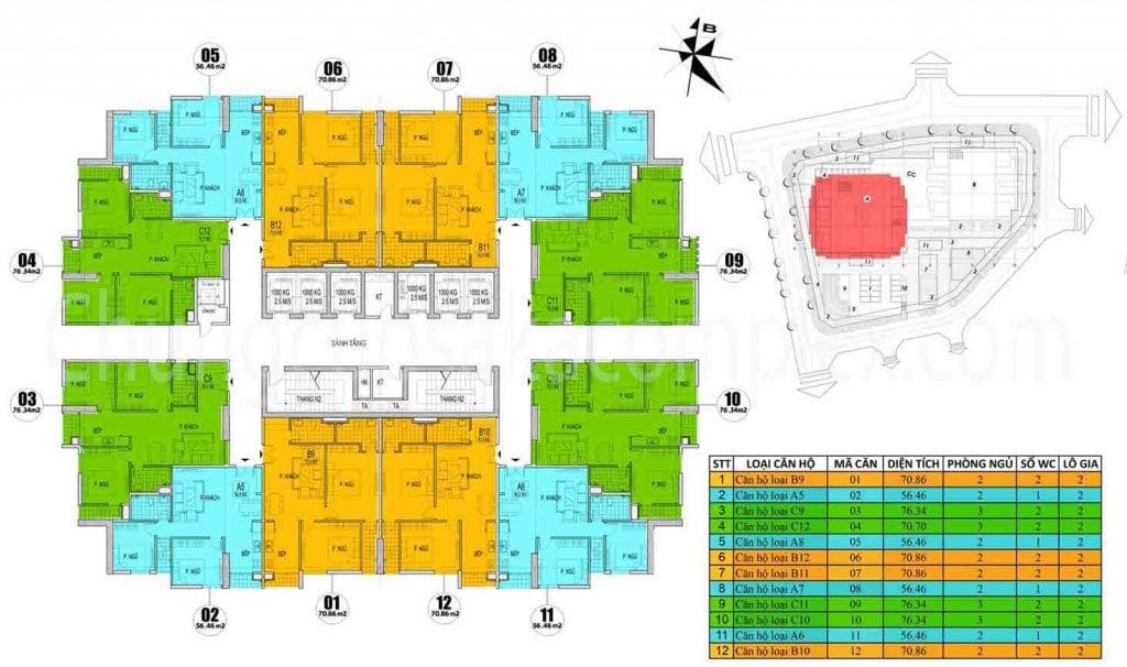 Chung cư Osaka Complex 48 Ngọc Hồi mở bán Tòa Osaka Skyline Complex tầng 3-7