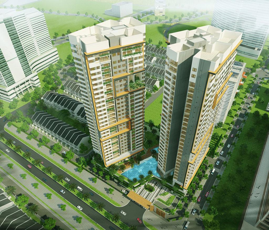 Dự án chung cư Park Kiara Park City flycam góc