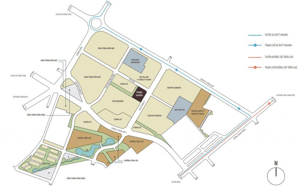 Dự án chung cư Park Kiara Park City cao tầng