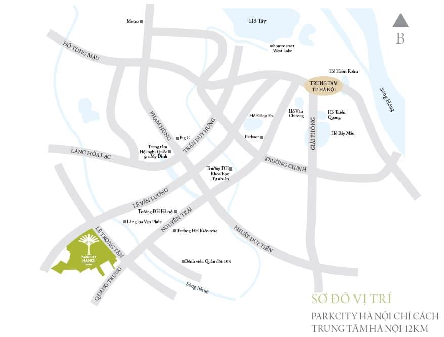 Dự án chung cư Park Kiara Park City vị trí vàng đắc địa