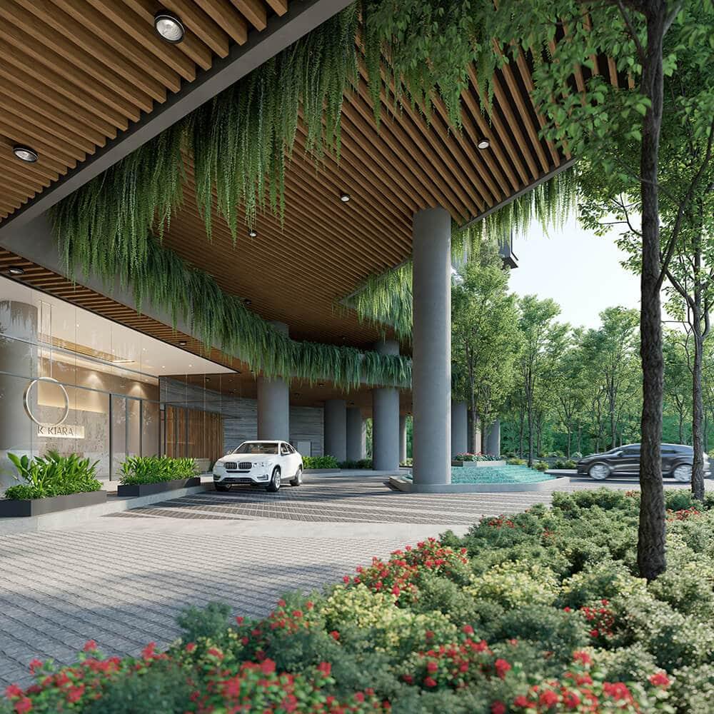 Dự án chung cư Park Kiara Park City cảnh quan xanh 1
