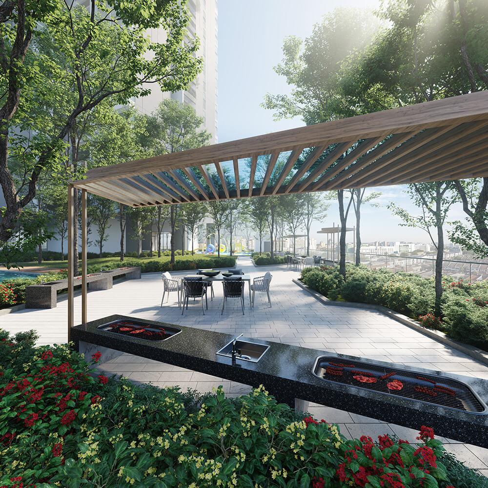 Dự án chung cư Park Kiara Park City cảnh quan xanh, vườn nướng BBQ