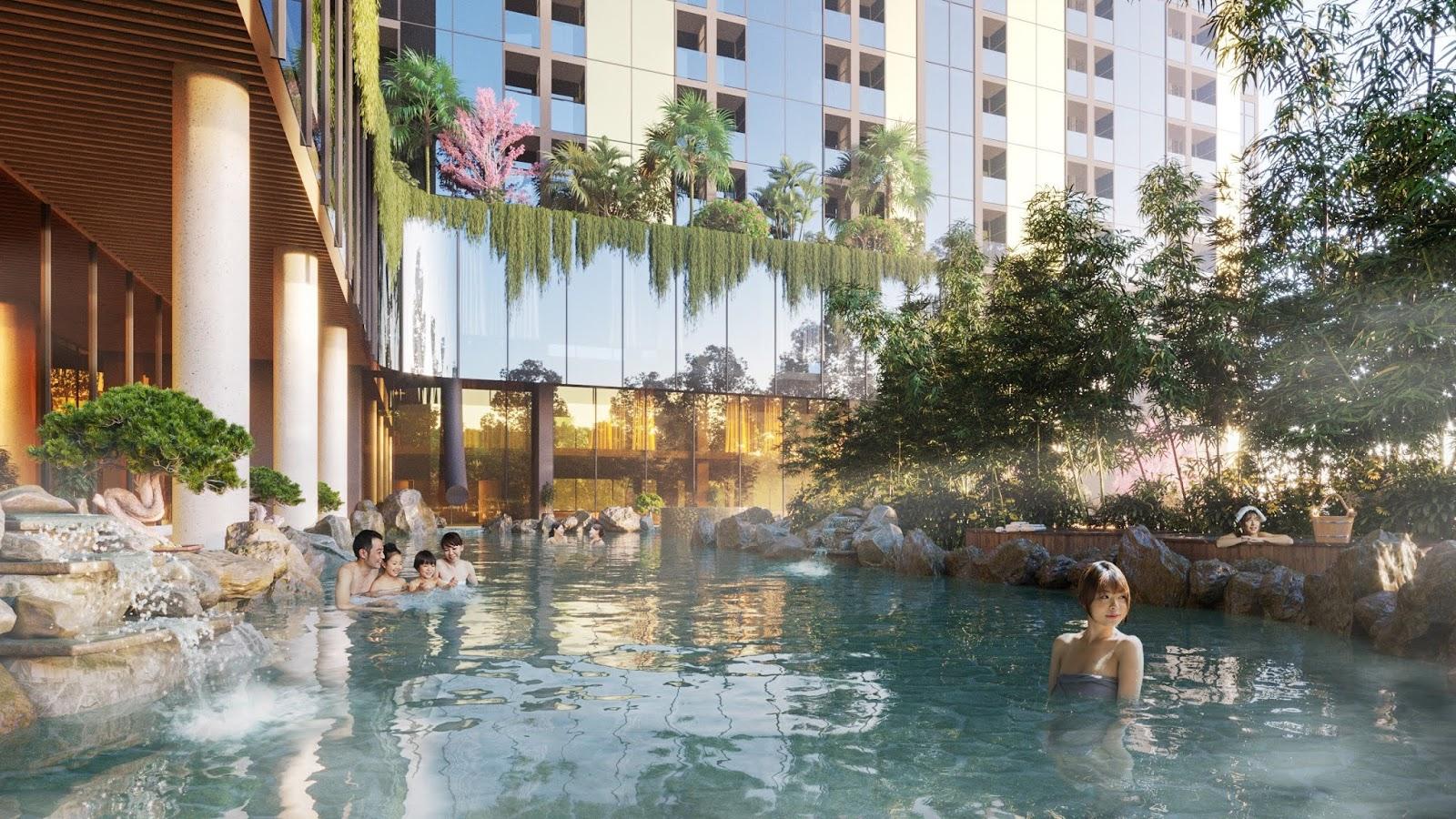 Bể tắm khoáng nóng dự án Condotel Wyndham Lynn Times Thanh Thủy