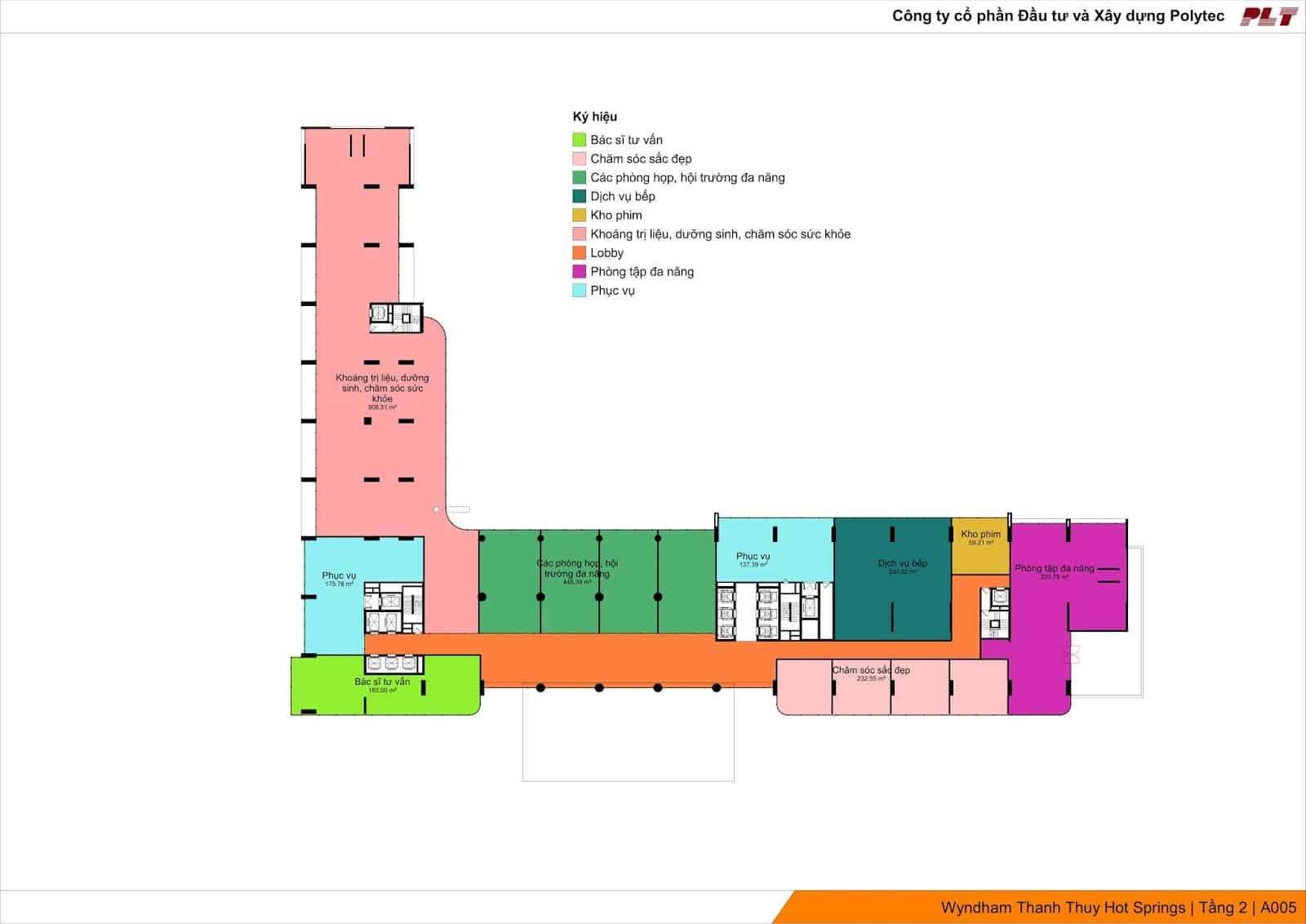 Tầng 2 tập trung dịch vụ chăm sóc sức khỏe Condotel Wyndham Lynn Times Thanh Thủy