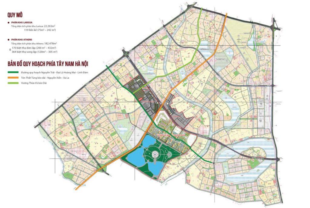 Quy hoạch khu đô thị dự án Tây Nam Kim Giang