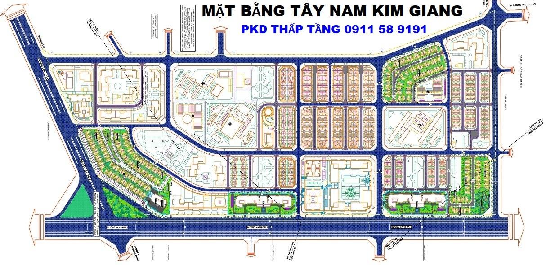 Mặt bằng dự án Tây Nam Kim Giang